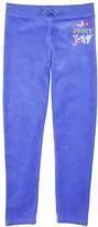 Juicy Couture Girls Logo Velour Glamorous Jc Slim Pant