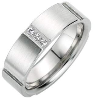 Bruno Banani Stainless Steel Ring with Cubic Zirconia 44/87107 W 58