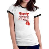 Eddany Never underestimate my ability to hit you boxing Ringer Women T-Shirt