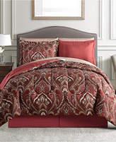 Sunham Norfolk Reversible 8-Pc. California King Comforter Set