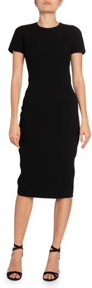 Victoria Beckham Crepe Crewneck T-Shirt Dress