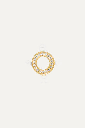 Anissa Kermiche Quatuor 14-karat Gold, Diamond And Pearl Earring