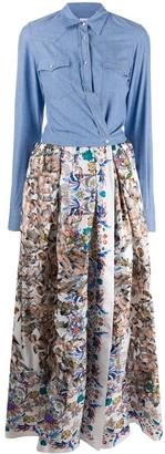 Sara Roka Floral Print Shirt Dress