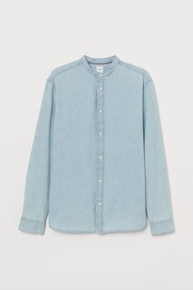 H&M Denim Henley Shirt
