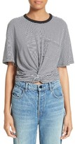 Alexander Wang Women's Stripe Twist Front Tee