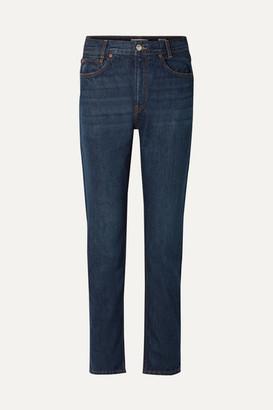 RE/DONE Original Academy High-rise Straight-leg Jeans - Dark denim