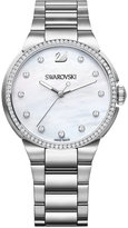 Swarovski Women's Swiss City Crystal Accent Stainless Steel Bracelet Watch 38mm