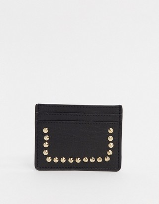 Urban Code Urbancode real leather studded card holder