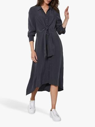 Mint Velvet Tie Front Dress, Charcoal Grey