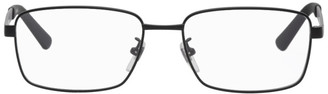 Gucci Black and Silver Rectangular Glasses
