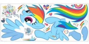 York Wall Coverings York Wallcoverings My Little Pony Rainbow Dash Peel and Stick Giant Wall Decals