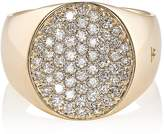 Tom Wood Women's Pinky Oval White Diamond Ring