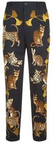 Dolce & Gabbana Cat Motif Tailored Trousers