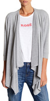 Chaser 3/4 Sleeve Draped Front Cardigan