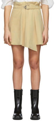 Chloé Beige Suede Draped Miniskirt