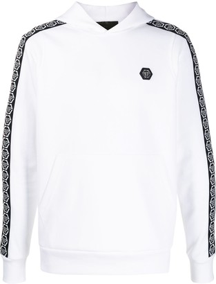 Philipp Plein Fleece Hexagon Logo Hoodie