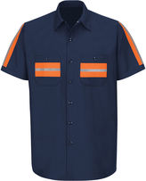 JCPenney Red Kap Short-Sleeve Visibility Industrial Work Shirt - Big & Tall