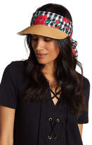 Betsey Johnson Gingham Rose Visor