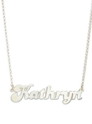 Argentovivo Banana Split Font Personalized Necklace
