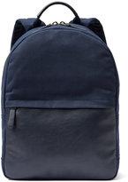 Frank & Oak Modern Canvas Backpack in Indigo