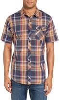 O'Neill Men's 'Emporium' Trim Fit Plaid Short Sleeve Woven Shirt