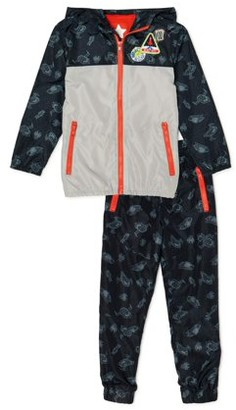365 Kids From Garanimals Boys Outer Space Windbreaker & Pants, 2-Piece Outfit Set, Sizes 4-10