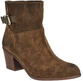 Franco Sarto As Is Suede Ankle Boots w/ Side Buckle - Monument