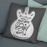 The Drifting Bear Co. Personalised Totally Awesome Dad Guitar Cushion