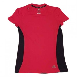 adidas Red Polyester Tops