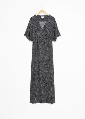 And other stories Kimono Wrap Maxi Dress