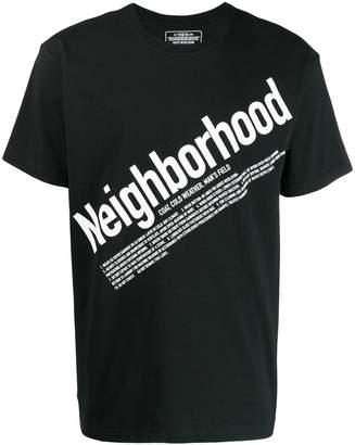 Neighborhood contrast logo T-shirt
