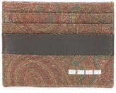 Etro paisley print card holder - men - Cotton/Calf Leather/Polyester/PVC - One Size