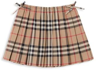 Burberry Baby's & Little Girl's Pleated Plaid Mini Skirt