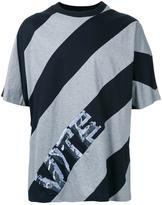 Juun.J diagonal stripe T-shirt - men - Cotton - 44