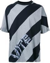 Juun.J diagonal stripe T-shirt