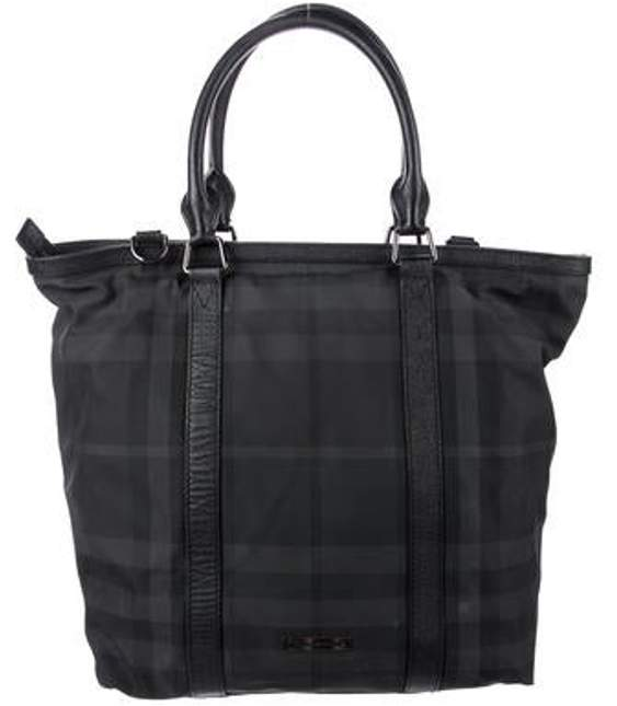8f055f7805c Leather-Trimmed Nylon Tote Black Leather-Trimmed Nylon Tote