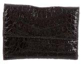 Nancy Gonzalez Embossed Leather Wallet