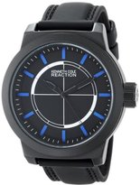 Kenneth Cole Reaction Unisex RK1419 Street Fashion Analog Display Japanese Quartz Black Watch