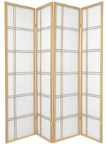Oriental Furniture Asian Home Decor Double Cross Double Sided Shoji Privacy Screen Room Divider