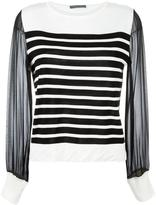 Alberta Ferretti sheer sleeves knitted blouse