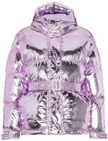 Ienki Ienki Pink Belted Puffer Jacket