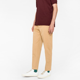 Paul Smith Men's Standard-Fit Taupe Cotton-Linen Chinos