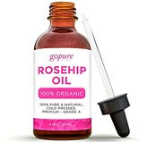 Fine Lines GoPure Naturals 100% Pure Organic Rosehip Oil for Face, Skin, Nails & Hair, 4 fl. oz. with Dropper