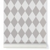 ferm LIVING Harlequin Wallpaper - grey