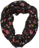 Black Floral Snood