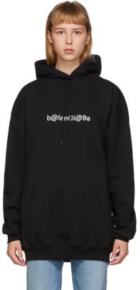 Balenciaga Black Symbolic Logo Hoodie