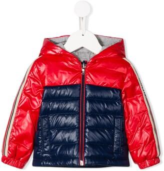 Moncler Enfant Bi-Colour Quilted Down Coat