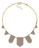 House Of Harlow Five Station Necklace in Leather