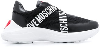 Love Moschino Logo Strap 50mm Low-Top Sneakers