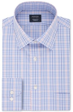 Arrow Men's Classic/Regular-Fit Non-Iron Performance Stretch Plaid Dress Shirt